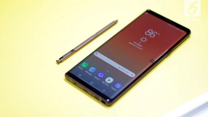 Samsung Galaxy Note 9 resmi meluncur di pasaran 24 Agustus 2018. Liputan6.com/ Aditya Eka Prawira#source%3Dgooglier%2Ecom#https%3A%2F%2Fgooglier%2Ecom%2Fpage%2F%2F10000