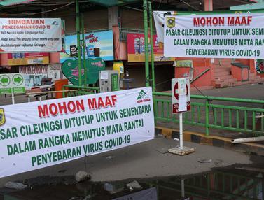 FOTO: Suasana Pasar Cileungsi Pasca Penutupan Sementara