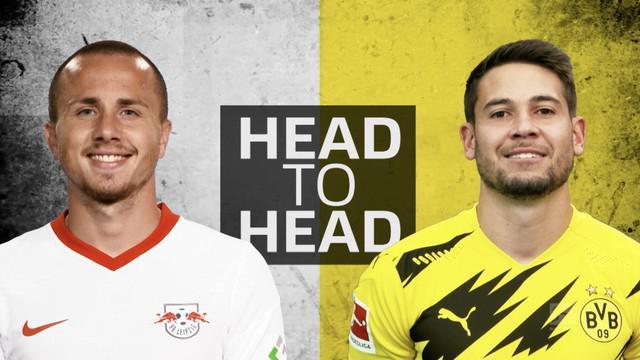 Berita video adu kehebatan bek sayap dari RB Leipzig, Angelino, dengan Raphael Guerreiro dari Borussia Dortmund di Bundesliga 2020/2021.