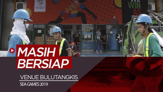 Berita video mengintip venue bulutangkis untuk SEA Games 2019 di Muntinlupa Sports Center.