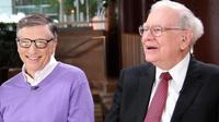 Bill Gates dan Warren Buffett bertemu pada tahun 1991 dan telah berteman selama 28 tahun (sumber:pinterest.com)
