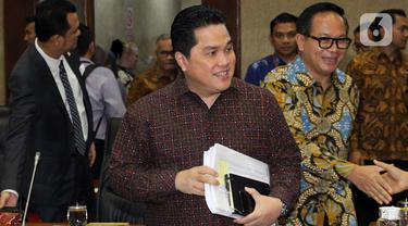 Erick Thohir Rapat Perdana di DPR
