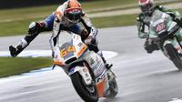 Bo Bendsneyder saat mengikuti balapan Moto2 2019. (WILLIAM WEST / AFP)