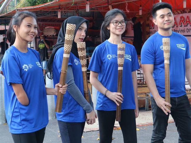 Nanda Mei Sholihah saat tes rute lari torch relay ASIAN Games 2018/Foto: copyright vemale.com/Winda Carmelita