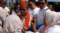 Capres nomor urut 02 H Prabowo Subianto meminta pendukungnya untuk mengawasi TPS secara ketat  (Liputan6.com/Yuliardi Hardjo)