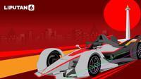 Banner Infografis Formula E 2020 Boleh di Monas. (Liputan6.com/Abdillah)