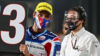 Pembalap Pertamina Mandalika SAG Team, Bo Bendsneyder, berhasil meraih posisi start ketiga di Moto2 Qatar. (dok. Pertamina Mandalika SAG Team)