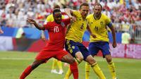 Raheem Sterling saat Inggris berhadapan dengan Swedia