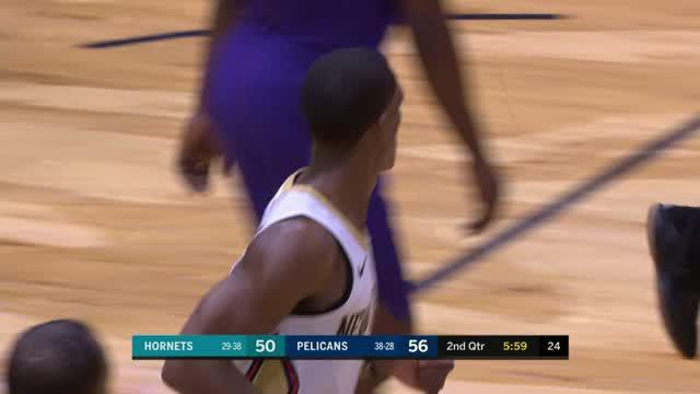 Berita video game recap NBA 2017-2018 antara New Orleans Pelicans melawan Charlotte Hornets dengan skor 119-115.