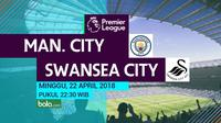 Premier League Manchester City Vs Swansea City (Bola.com/Adreanus Titus)
