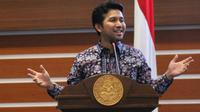 Calon wakil gubernur Jawa Timur Emil Dardak berbagi kisah inspiratif dalam acara Inspirato di SCTV Tower, Jakarta, Selasa (20/3). (Liputan6.com/Herman Zakharia)