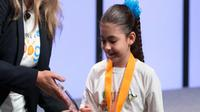 Sarah Gomez Lane, bocah berusia tujuh tahun yang memenangkan kontes Google Doodle. (Foto: CNBC).