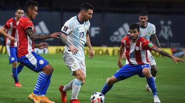 Penyerang Timnas Argentina, Lionel Messi.