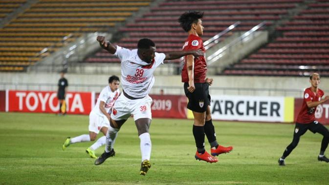 PSM Makassar menang 3-0 atas Lao Toyota pada laga terakhir Grup H Piala AFC 2019 di Stadion Nasional Laos, Selasa (14/5/2019). (Dok. PSM)