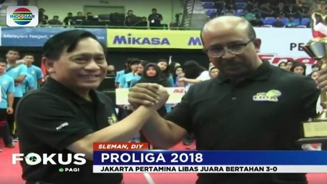 Ajang bergengsi bola voli di Indonesia ini diawali pertandingan klasik antara tim putri Jakarta Pertamina Energi dan Juara bertahan Jakarta