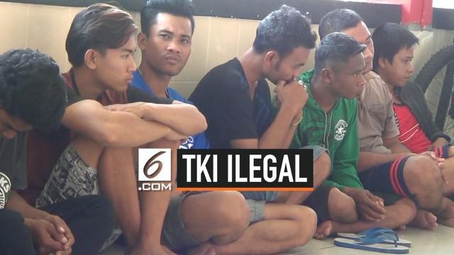 Jajaran Polda Kepri berhasil menggagalkan upaya penyeludupan sembilan orang TKI ilegal asal Lombok  ke Malaysia. Dua orang yang merupakan penampung diamankan polisi dan statusnya sebagai tersangka.