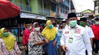 Edy Pratowo kampanye dengan blusukan di pasar tradisional Bahitom, Murung Raya Kalteng. (Foto: Istimewa).