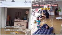 Menjelang sore, kafe yang tetap buka saat banjir ini ramai dikunjungi pembeli. (Sumber: TikTok/@ekarizkinugraha)