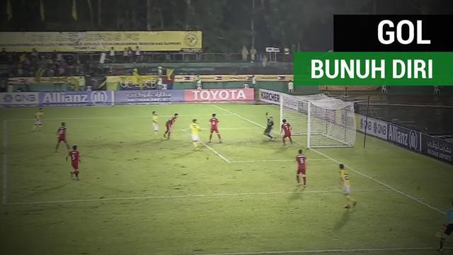 Berita video gol bunuh diri yang menyedihkan dari bek asal Kamboja, Sun Sovanrithy, saat timnya, Boeung Ket, dibantai 0-9 oleh tim dari Filipina, Ceres-Negros, di Piala AFC 2018.