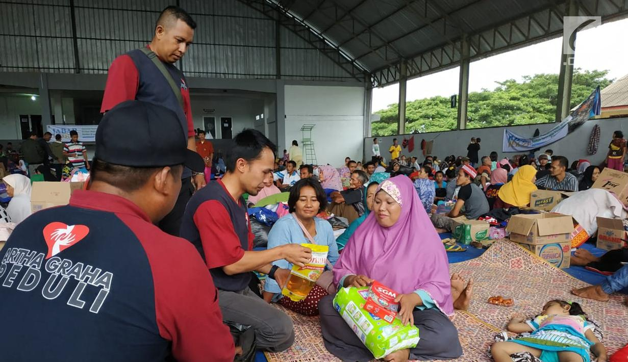 Image result for image Tahapan Pemberian Bantuan untuk Pengungsi Tsunami Selat Sunda