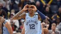 Guard Memphis Grizzlies Ja Morant terus bersinar pada musim debutnya di NBA. (AP Photo/Brandon Dill)