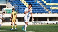 Ekspresi striker PSIS semarang, Hari Nur Yulianto usai mencetak gol ke gawang PSIM Yogyakarta. (Dok PSIS)
