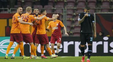 Galatasaray sukses meraih poin tiga usai unggul tipis atas tamunya, Lazio di matchday pertama fase grup Liga Europa 2021/2022. (AP Photo)