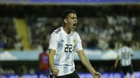 Pemain Boca Junior yang juga pilar Timnas Argentina, Cristian Pavon, tengah diincar Arsenal dan Barcelona.  (AP Photo/Victor R. Caivano)