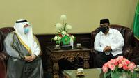 Menag Yaqut Cholil Qoumas bertemu Dubes Arab Saudi Esam Abid Althagafi  di Kantor Kementerian Agama, Jakarta. (Foto: Kemenag)