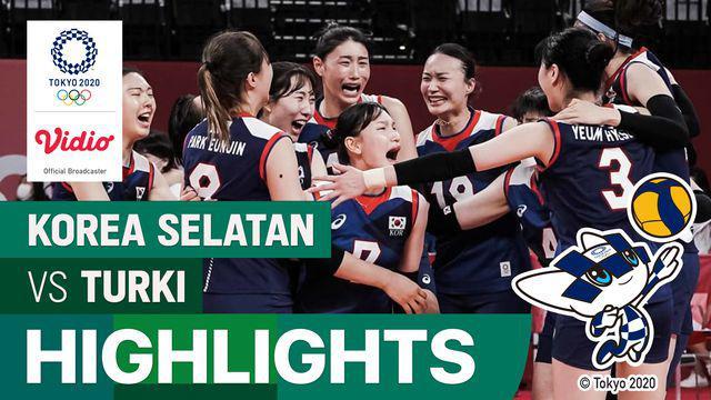 Berita video highlights serunya laga perempat final voli putri Olimpiade Tokyo 2020 antara Korea Selatan melawan Turki, Rabu (4/8/2021) pagi hari WIB.