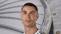Cristiano Ronaldo memamerkan seragam baru Juventus. (Dok Juventus)