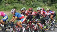 Tim Indonesia menjuarai etape dua kategori tim Jelajah Wanita Malaysia 2016, Jumat (28/10/2016). (PB ISSI)