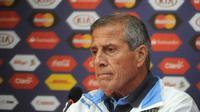Pelatih Timnas Uruguay, Oscar Tabarez. (AFP Photo)