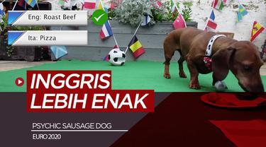 Berita video prediksi final Euro 2020 antara Inggris Vs Italia oleh Psychic Sausage Dog