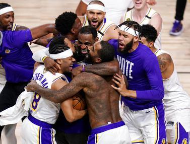 Bungkam Miami Heat, LA Lakers Kunci Gelar Juara NBA 2020