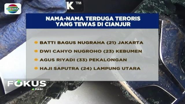 Diduga akan melancarkan aksi balas dendam dengan melakukan teror ke Mako Brimob, empat orang terduga teroris di Cianjur terlibat baku tembak dengan petugas, dan akhirnya tewas.