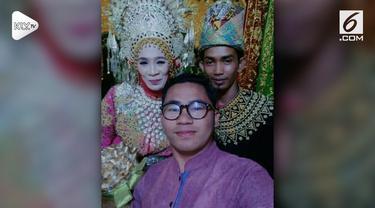 Seorang pria berusia 25 tahun menikahi perempuan usia 60 tahun. Pernikahan mereka membuat geger netizen.