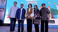 Acara launching aplikasi Duta Suporter Indonesia untuk memeriahkan Asian Games 2018. Liputan6.com/ Andina Librianty