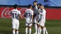 Eden Hazard kembali mencetak gol untuk Real Madrid saat menghadapi Huesca (AP)
