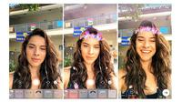 Instagram Stories kini memiliki filter wajah (Foto: Ist)
