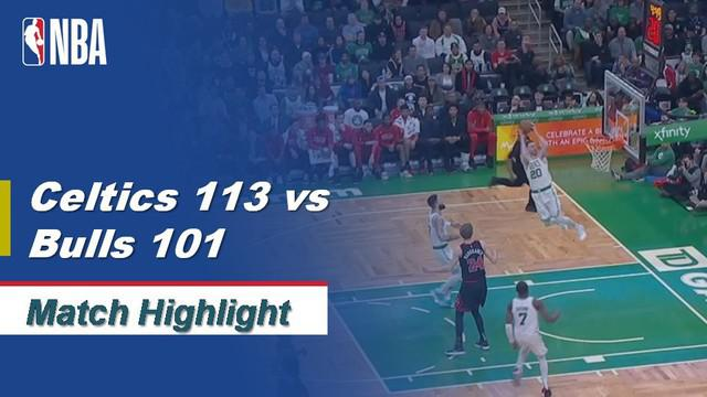 Berita Video Highlights NBA 2019-2020, Boston Celtics Vs Chicago Bulls 113-101