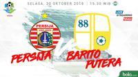 Liga 1 2018 Persija Jakarta Vs Barito Putera (Bola.com/Adreanus Titus)