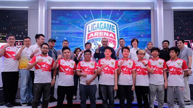 Tim Nasional Esports Indonesia yang akan diberangkatkan pada ajang SEA Games 2019 Filipina. Mereka bertekad memborong seluruh medali yang diperebutkan. (Dok. Istimewa)