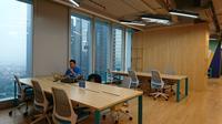 Coworking space JustCo di kawasan SCBD. (Liputan6.com/Dinny Mutiah)
