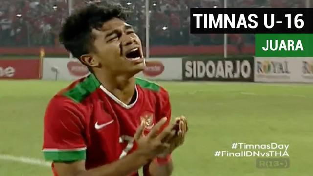 Berita video highlights Final Piala AFF U-16 2018, Timnas Indonesia U-16 vs Thailand 1-1 (penalti: 4-3).