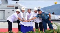 Menteri PUPR Basuki Hadimuljono ajak Menkeu Sri Mulyani resmikan proyek penataan kawasan Dermaga Tawiri di Ambon (Foto: Dok Kementerian PUPR)