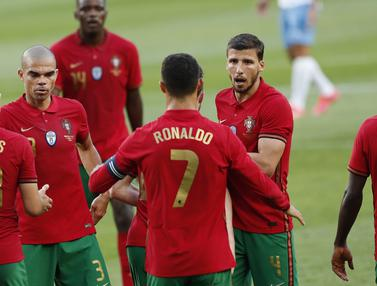 Foto Piala Eropa: Bruno Fernandes dan Cristiano Ronaldo Cetak Gol, Portugal Bombardir Israel 4-0 di Laga Uji Coba Euro 2020