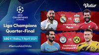 Perempat final Liga Champions dapat disaksikan melalui platform streaming Vidio. (Dok. Vidio)