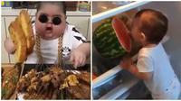 Potret Lucu Anak-anak Saat Makan Ini Bikin Gemes (sumber:Instagram/@babygaul)