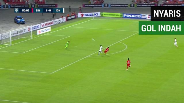 Berita video momen gol indah nyaris tercipta saat Singapura menang 1-0 atas Timnas Indonesia pada laga pertama Grup B Piala AFF 2018, Jumat (9/11/2018).